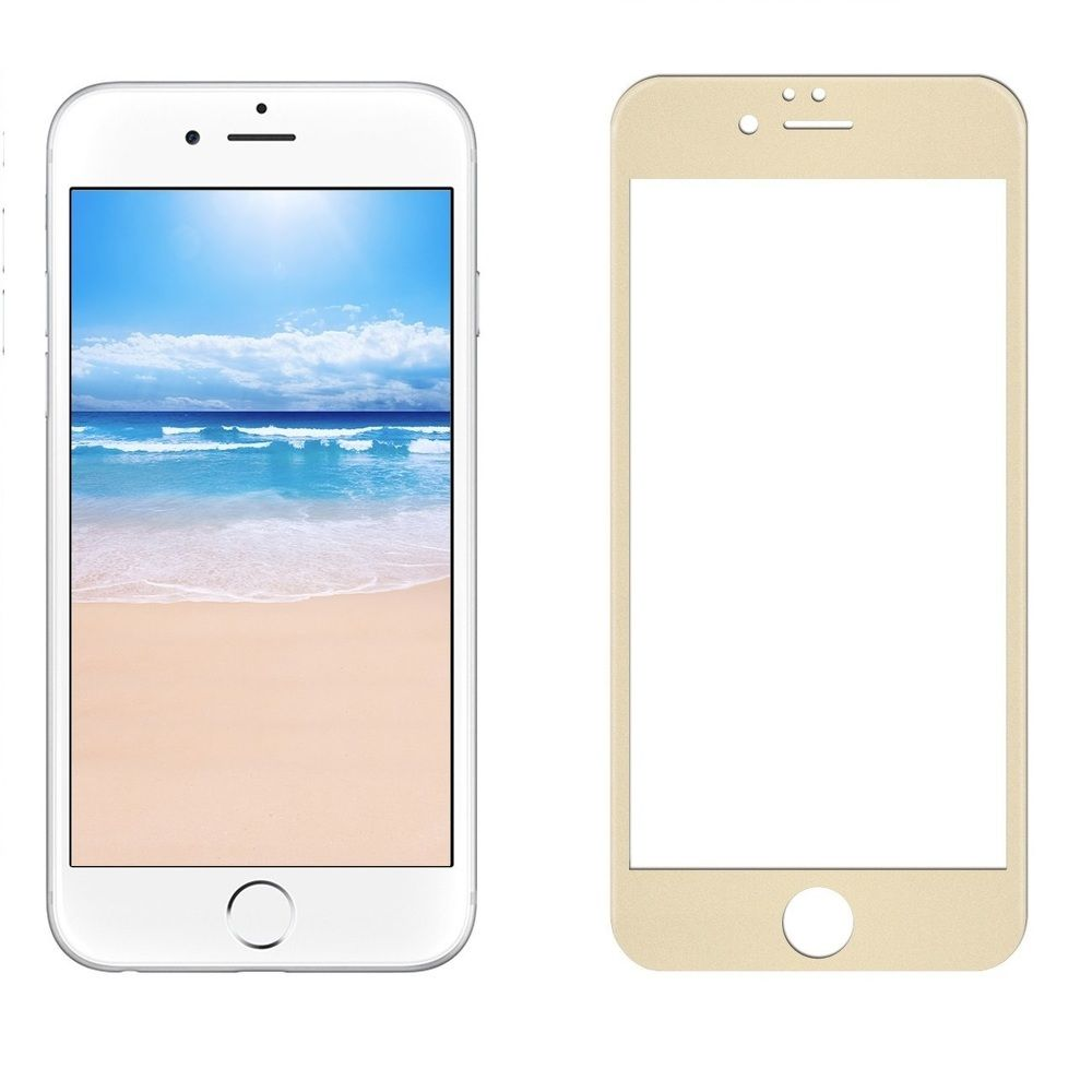 sticla securizata full screen iphone 7 gold apple iphone 7 iphone 8. Black Bedroom Furniture Sets. Home Design Ideas