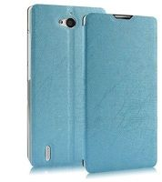 Husa Orange Yumo flip cover stil carte - albastru