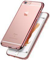 Husa Plating TPU 0.3 mm Iphone 6 6S - roz