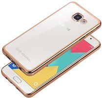 Husa Silicon TPU Plating auriu Ultra Thin Galaxy A5 2016 - gold