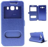 Husa  Samsung Galaxy J5 2016 Silk Window Stil Carte - albastru