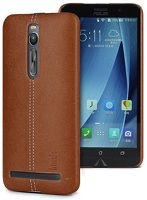 Leather Hard Case Imak Asus Zenfone 2 5.5inch - maro
