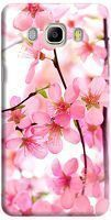 Husa Custom Hard Case Pink Flowers Samsung Galaxy J5 2016