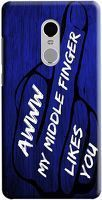 Husa Xiaomi Redmi Note 4 Custom Hard Case Middle Finger