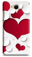 Husa Allview X3 Soul Plus Custom Hard Case Heart Shape