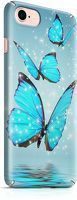 Husa iPhone 7 Custom Hard Case Blue Butterflys