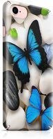 Husa iPhone 7 Custom Hard Case Blue Butterflys 2