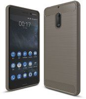 Husa Nokia 6 Carbon Fibre Brushed - gri
