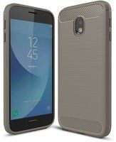 Husa Samsung  Galaxy J3 2017 Carbon Fibre Brushed - gri