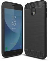 Husa Samsung  Galaxy J3 2017 Carbon Fibre Brushed - negru