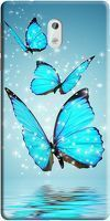 Husa Nokia 3 Custom Hard Case Blue Butterflys