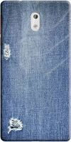 Husa Nokia 3 Custom Hard Case - Blue Jeans