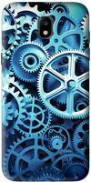 Husa Samsung Galaxy J5 2017 Custom Hard Case Blue Gear