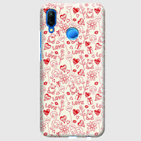 Husa Huawei P20 Lite Custom Hard Case - Love Pattern.1