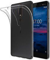 Husa   Nokia 6 (2018) / Nokia 6.1 Silicon TPU extra slim 0.5 mm - transparent