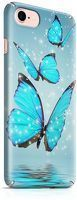 Husa iPhone 6 Custom Hard Case Blue Butterflys