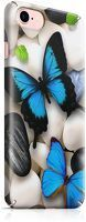Husa iPhone 6 Custom Hard Case Blue Butterflys 2