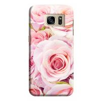 Husa Samsung Galaxy S7 Edge Custom Hard Case Fresh Pink Roses