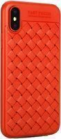 Husa iPhone X Weaving Pattern TPU  - rosu