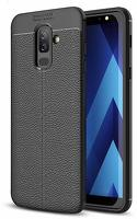 Husa  Samsung Galaxy A6 Plus (2018) - Silicon Tpu Brused Grain - negru