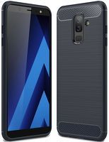 Husa Samsung  Galaxy A6 Plus (2018) - Tpu Carbon Fibre Brushed - albastru
