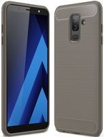 Husa Samsung  Galaxy A6 Plus (2018) - Tpu Carbon Fibre Brushed - gri