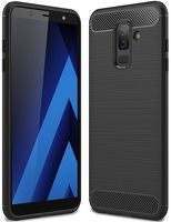 Husa Samsung  Galaxy A6 Plus (2018) - Tpu Carbon Fibre Brushed - negru