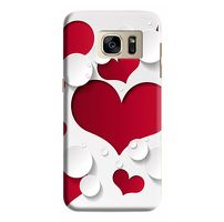 Husa Samsung Galaxy S7 Edge Custom Hard Case Heart Pattern
