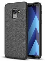 Husa  Samsung Galaxy A8 (2018) - Tpu Brused Grain - negru