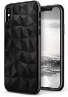 Husa Silicon iPhone X - Ringke Air Prism ultra-thin 3D - negru