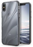 Husa Silicon iPhone X - Ringke Flow - negru