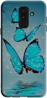 Husa Samsung Galaxy A6 Plus 2018 - Silicon Matte TPU Butterfly