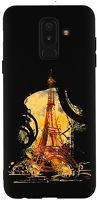 Husa Samsung Galaxy A6 Plus 2018 - Silicon Matte TPU Eiffel Tower