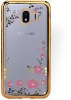 Husa  Samsung J4 (2018) Flower Plating Silicon TPU Ultra Thin  - gold