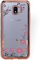 Husa  Samsung J4 (2018) Flower Plating Silicon TPU Ultra Thin  - rose gold