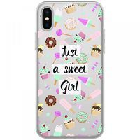 Husa iPhone X - Silicon TPU Just a sweet girl