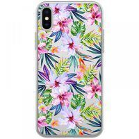 Husa iPhone X - Silicon TPU Summer Flowers