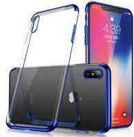 Husa Samsung Galaxy A50 Silicon TPU Plating Ultra Thin  - Albastru