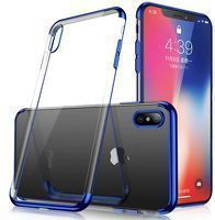 Husa Samsung Galaxy A70 Silicon TPU Plating Ultra Thin  - Albastru