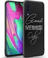 Husa Samsung Galaxy A70- Silicon Matte TPU Good Vibes Only