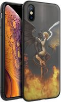 Husa iPhone X/XS - Silicon Matte - Angel and Devil