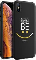 Husa iPhone X/XS - Silicon Matte - Be Happy
