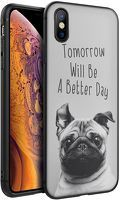 Husa iPhone X/XS - Silicon Matte - Better day 1