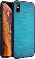 Husa iPhone X/XS - Silicon Matte - Blue Lines