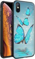 Husa iPhone X/XS - Silicon Matte - Butterfly 1