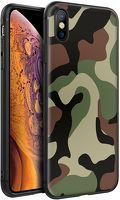 Husa iPhone X/XS - Silicon Matte - Camouflage