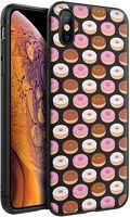 Husa iPhone X/XS - Silicon Matte - Donuts