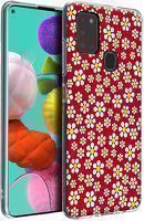 Husa Samsung Galaxy A21S - Silicon Matte TPU Flowers 1