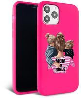 Husa iPhone 11 Pro - Silicon Matte - Mom of girls