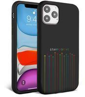 Husa iPhone 11 - Silicon Matte -Stay Positive
